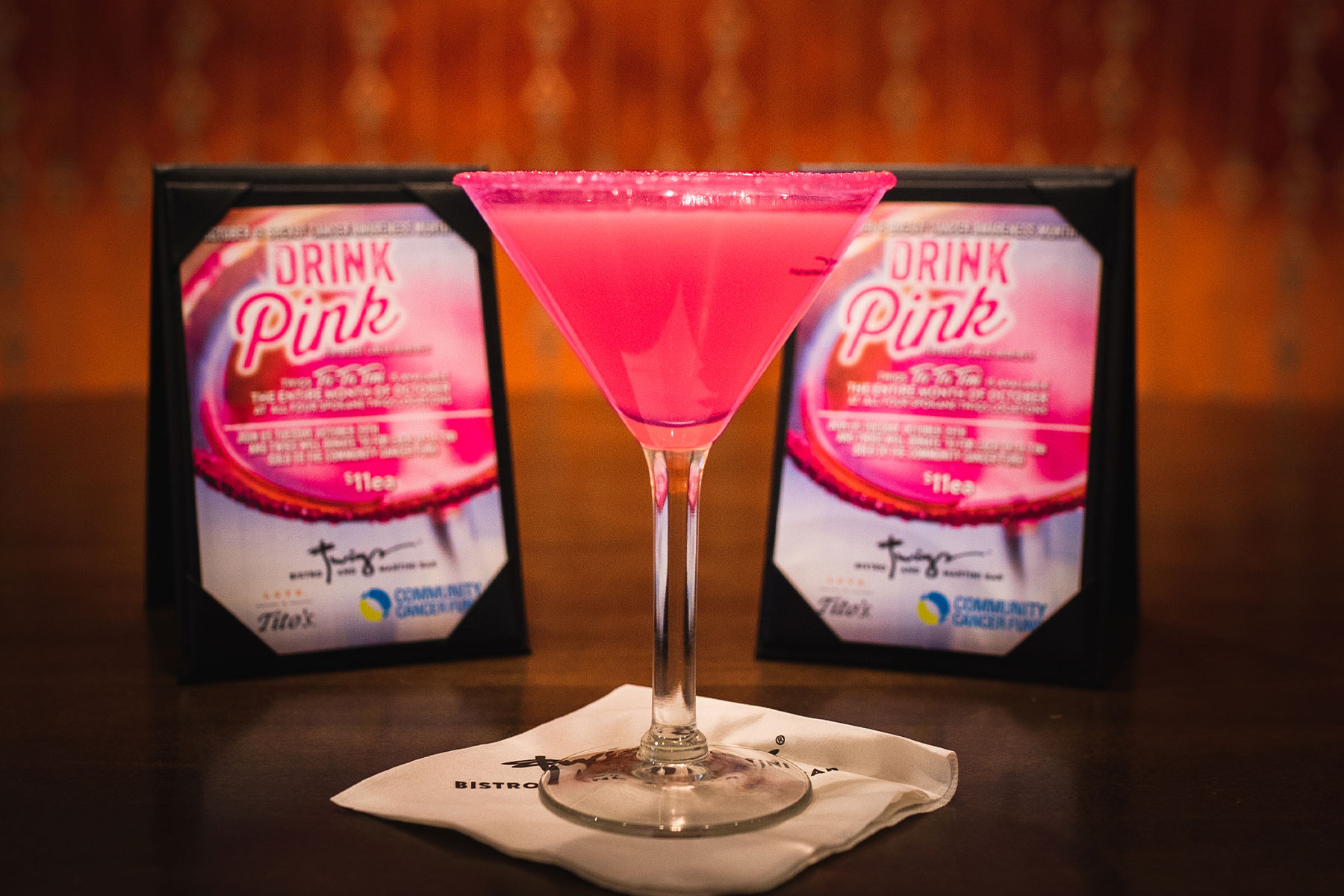 Twigs Bistro & Martini Bar and CCF Drink Pink for Breast Cancer Awareness