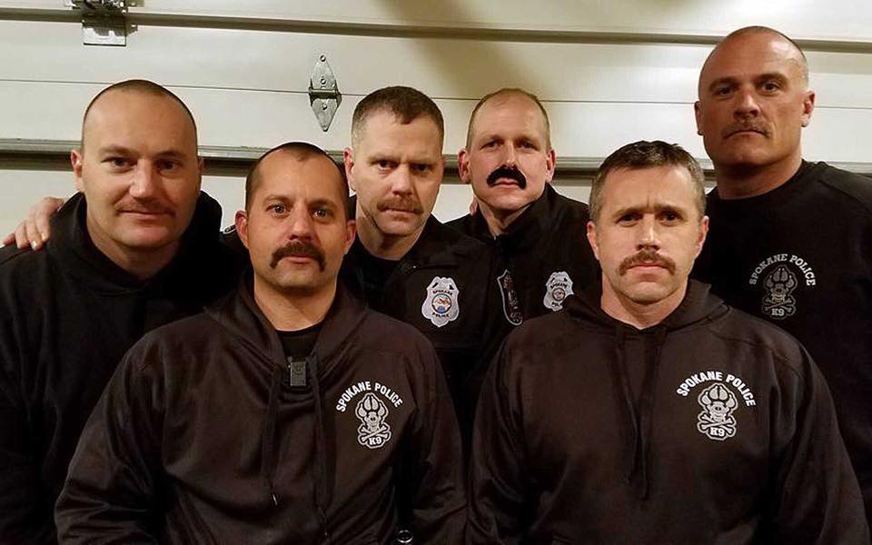 Spokane Police Department No Shave November to Raise Funds, Cancer Awareness
